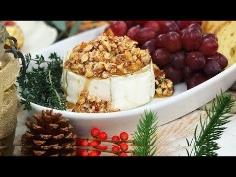 Honey Almond Baked Brie: Easiest New Year's Eve app! | One Hungry Mama