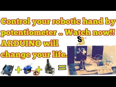 how to make arduino robotic hand using servo motor