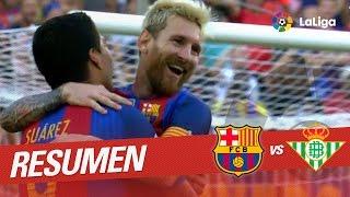 Resumen de FC Barcelona vs Real Betis (6-2)