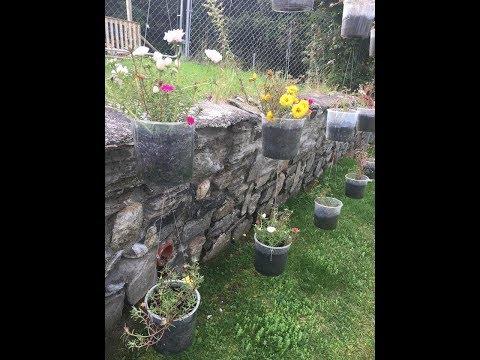 DIY Above ground flower garden