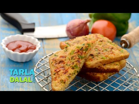 Rava Toast, Sooji Toast by Tarla Dalal