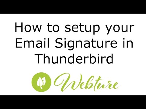 How to set up your email signature in Mozilla Thunderbird