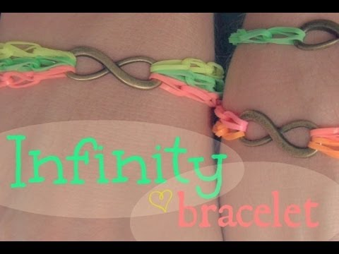 DIY INFINITY BRACELET with Rubber Bands - NO LOOM - Rainbow Loom | SoCraftastic