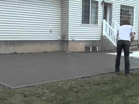 third Video on pouring cement pad, (patio) How to pour cement