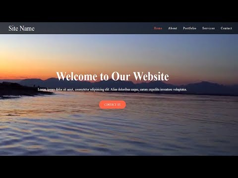 Simple HTML Website with video Background | Video Background with CSS | Tutorial For Beginners