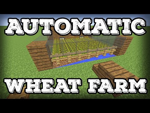 Minecraft Tutorial - Automatic Wheat Farm - Automatic Replanting!(Minecraft 1.8+)