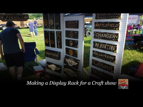 Making a display rack for Craft Show