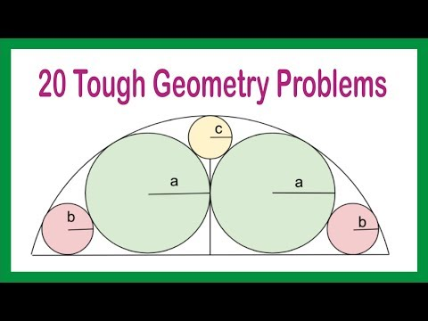 CAT Geometry Challenging Problems