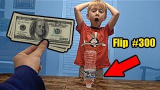Last to Miss a Bottle Flip wins $100 (Part 3)   Colin Amazing
