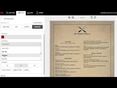 how to create food menu in ms word make menu cards online free