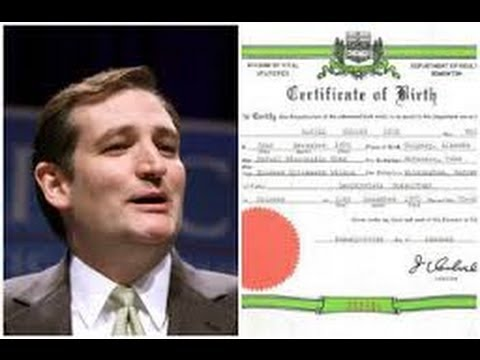 Ted Cruz Releases Birth Certificate... From Canada