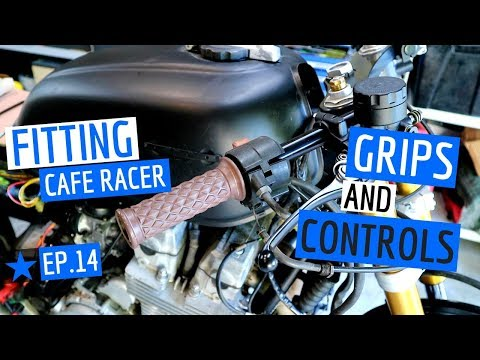 How To Fit Grips & Controls to A CB750 ★ Cafe Racer Ep.14