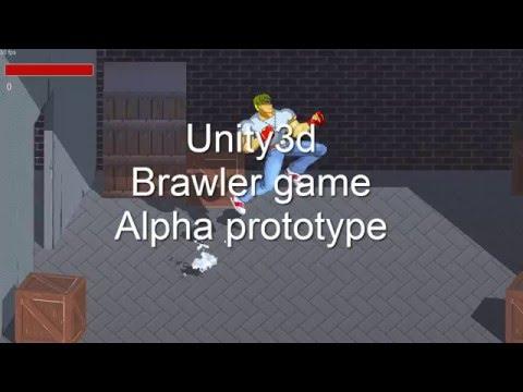 Unity3d 2D Brawler Game ( Beat'em Up) Alpha Prototype