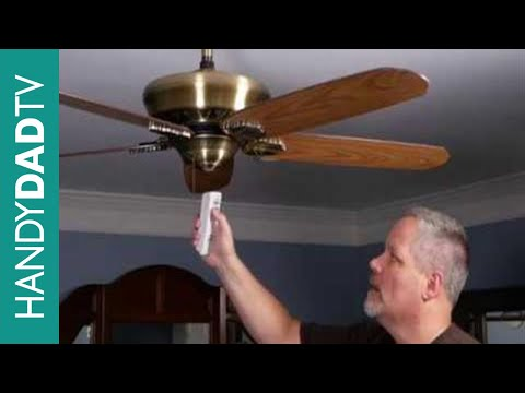 How to Install a Ceiling Fan Remote Control