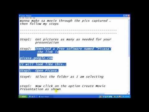 How to make a movie through Picasa