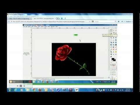 Create transparent background using gimp 2 8