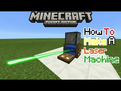 HOW TO MAKE A LASER MACHINE IN MCPE 1.0.5.0 | MCPE 1.0.5.0 CREATION | minecraft pe ( pocket edition)