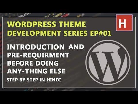 Wordpress theme development in hindi step by step from hindidevtuts Ep#01