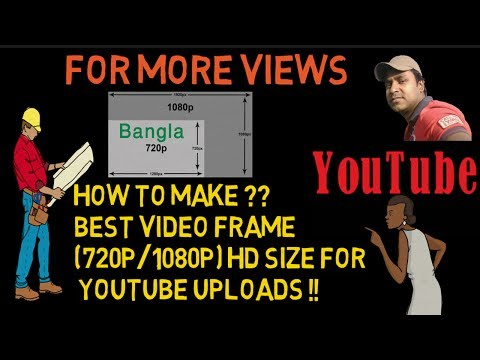 How to make best video frame (720p/1080p) HD size for YouTube uploads (VSDC)