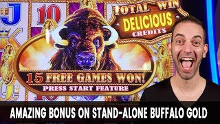 🐃 This Buffalo Bonus Is Gold! 🥇 4 Coin Trigger With Massive Win!