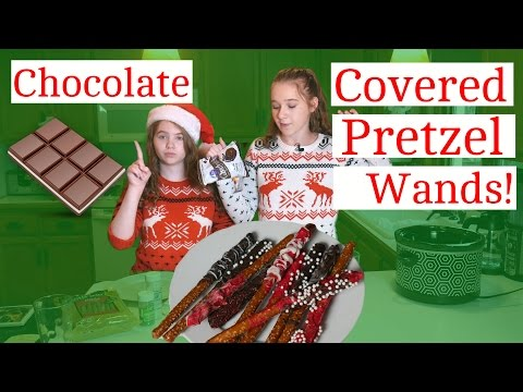 Chocolate Pretzel Rods! Christmas Snacks! 4/24 Days of Christmas