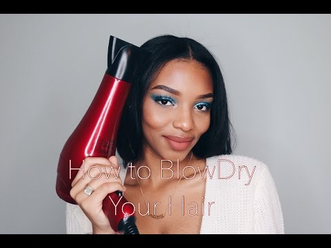 How to Blowdry Your Hair | Blowdrying Natural, Curly Hair | Flawhs