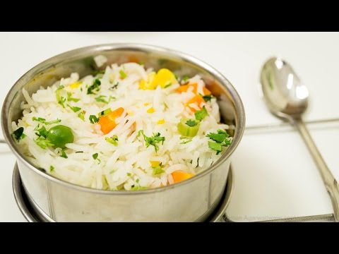 VEGETABLE PULAV/PILAF - NON SPICY INDIAN RICE RECIPE/ PRESSURE COOKER METHOD (EP 29)