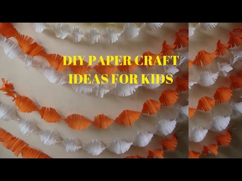 Birthday Decoration: Easy crepe paper craft ideas for kids.