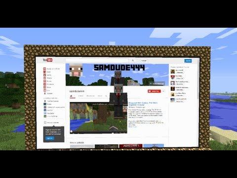 Minecraft Mods: Web Displays Mod Review + Installation for Minecraft 1.6.2-1.6.4!