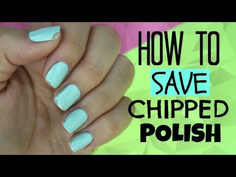 How to fix chipped nail polish!