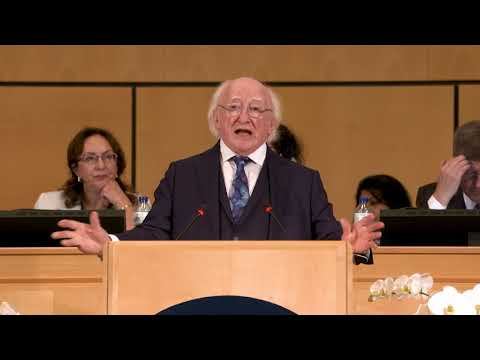 There can be no peace that is not universal, says the President of Ireland
