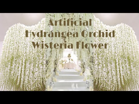 30PCS 100CM Artificial Hydrangea Orchid Wisteria Flower For DIY Wedding decoration |aliexpress