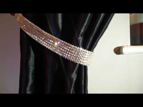 Diamante Rhinestone Crystal Tie Backs Curtains & Voiles REAL STONES