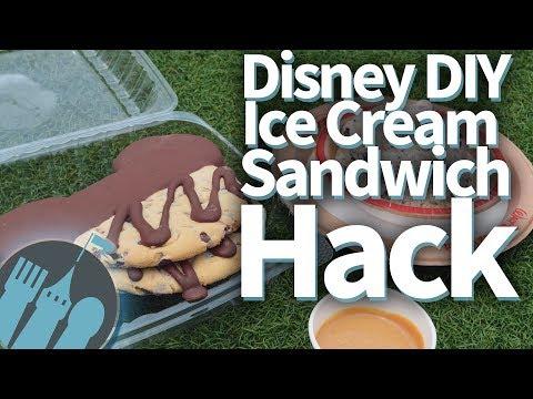 Disney DIY Ice Cream Sandwich Hack