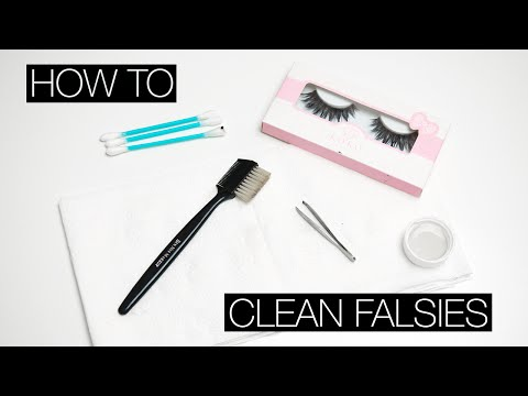 HOW TO | Clean False Eyelashes