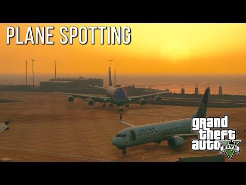 Plane Spotting at Los-Santos International Airport ( GTA 5 ).
