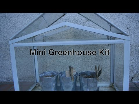 DIY Mini Greenhouse Kits For Sale by Ikea in Small Indoor / Outdoor Portable Size w/ White Panels