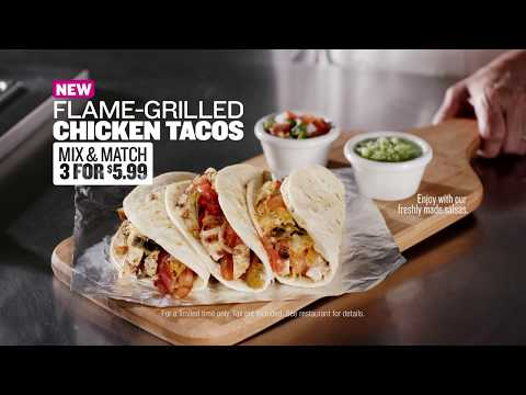 Taco Cabana Flame-Grilled Chicken Tacos