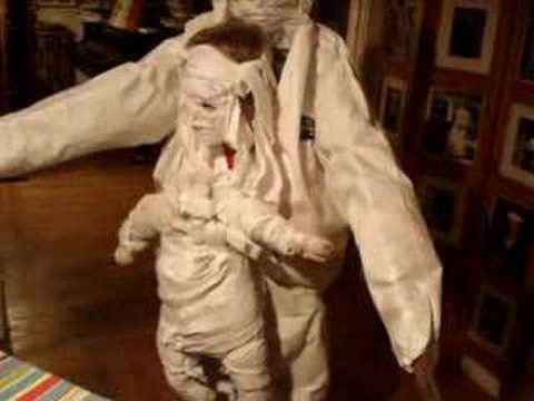 Halloween Ventriloquist Mummy Costume (almost done)