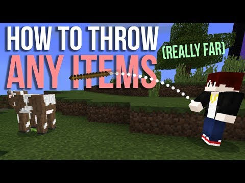 How to throw any items really far in Minecraft PE (BE) No addons nor mods