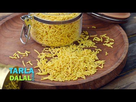 Sev Recipe, Home Sev, Besan Sev by Tarla Dalal