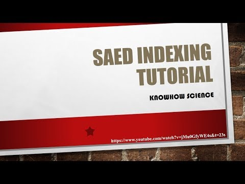 SAED Indexing