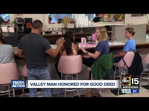 Valley man honored for good deed after appearing on 'What Would You Do?'