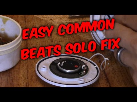 HOW TO FIX BEATS SOLO HEADPHONES: speaker no audio sound not working