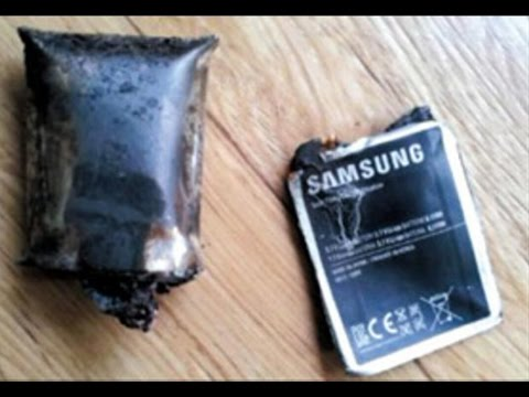 Poking a Samsung Battery With A Knife. Explosion!