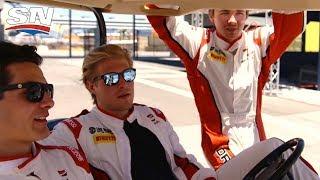 Auto Racing With Mathew Barzal, Brock Boeser and Clayton Keller | Biznasty 2.0