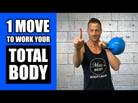 ONE KETTLEBELL EXERCISE THAT WORKS YOUR TOTAL BODY | Kettlebell Clean And Press Exercise Tutorial