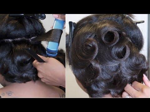 Classic Pin Curls #SalonWork