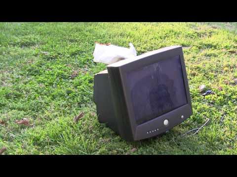 Computer Monitor Destruction
