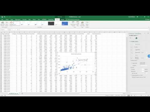 How to make a scatter plot on Excel and add a trendline